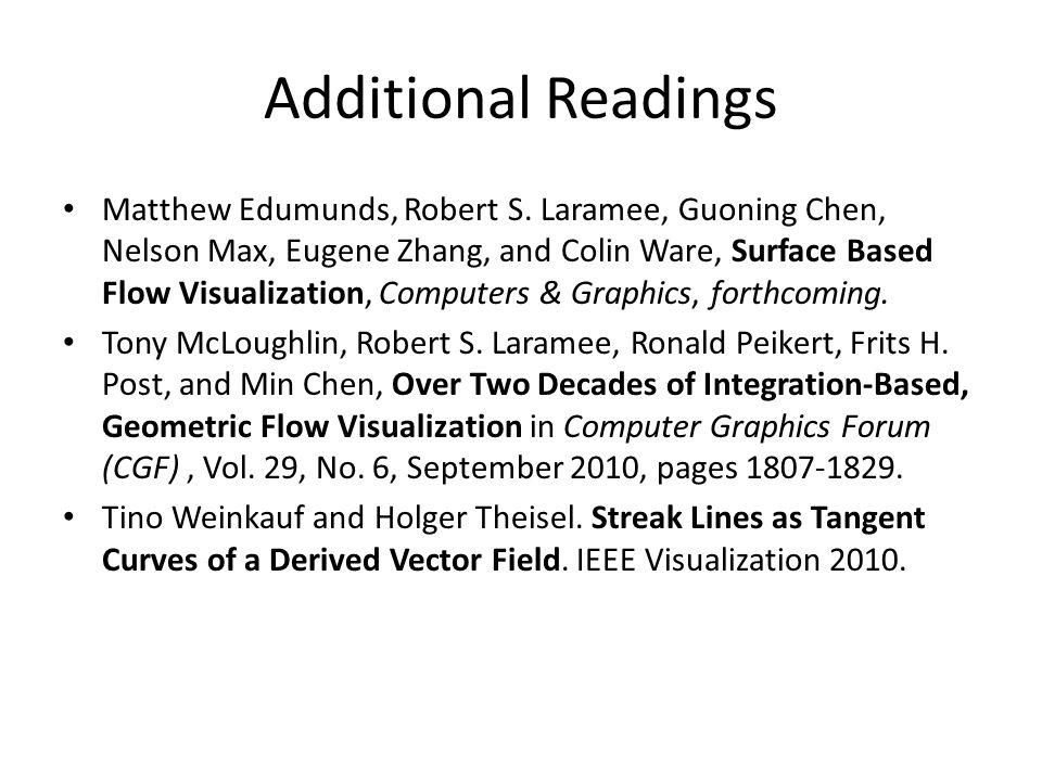 Additional Readings Matthew Edumunds, Robert S.
