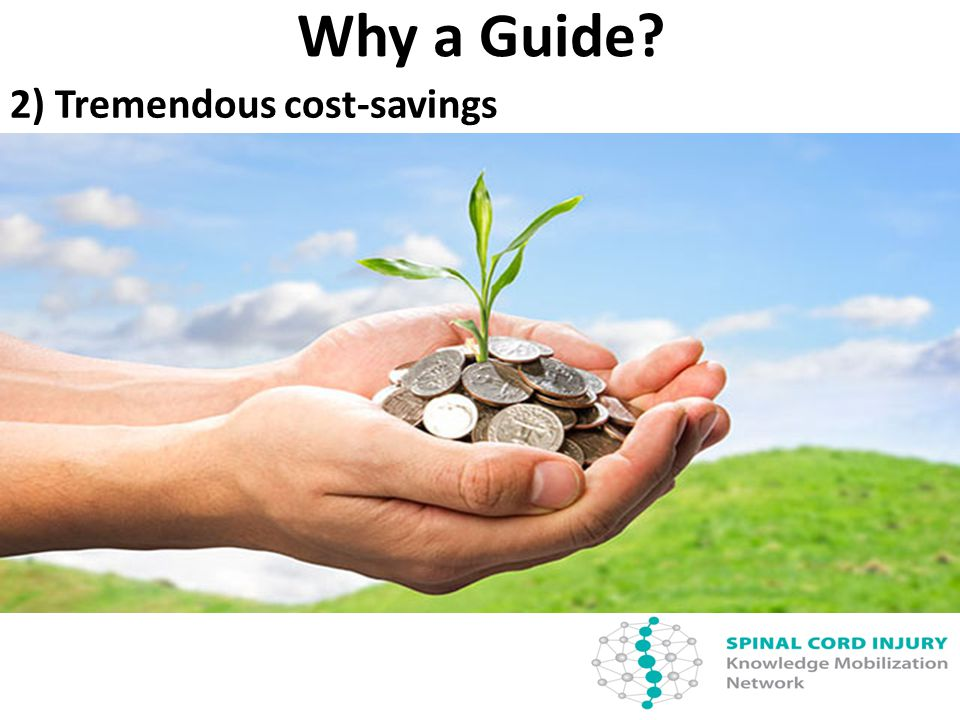 Why a Guide 2) Tremendous cost-savings