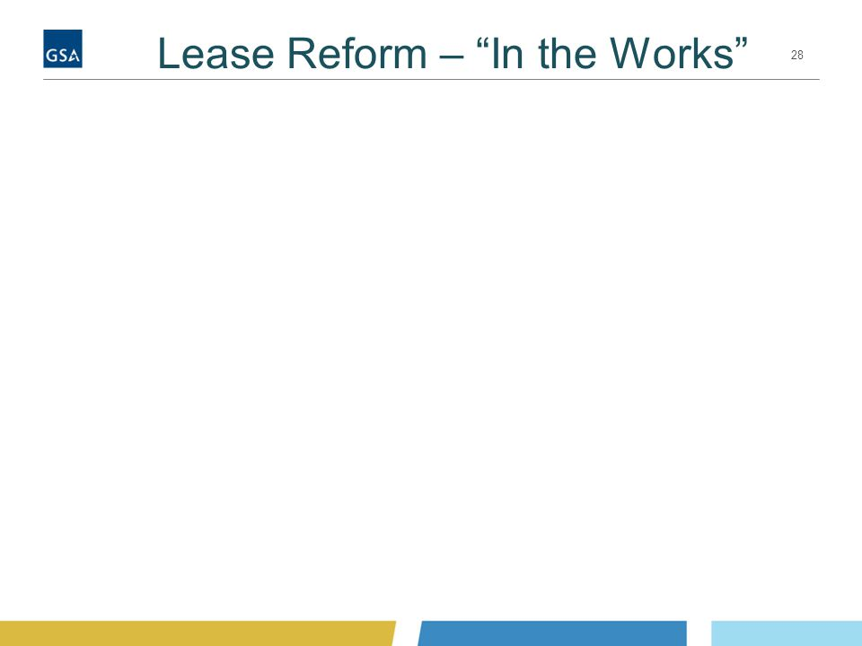 Lease Reform – In the Works 28