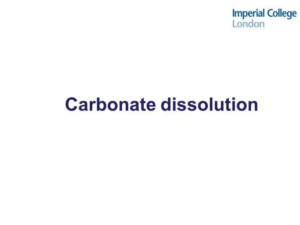 Carbonate dissolution