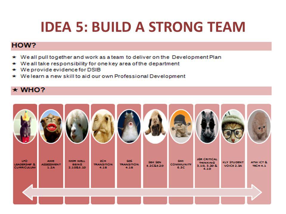 IDEA 5: BUILD A STRONG TEAM