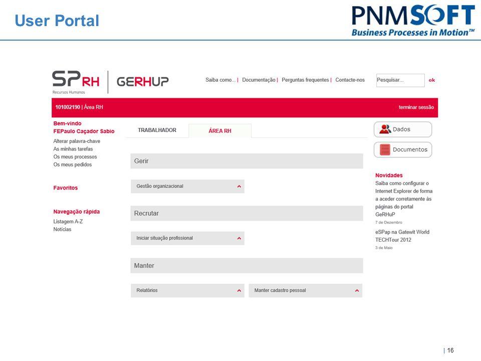 | 16 User Portal