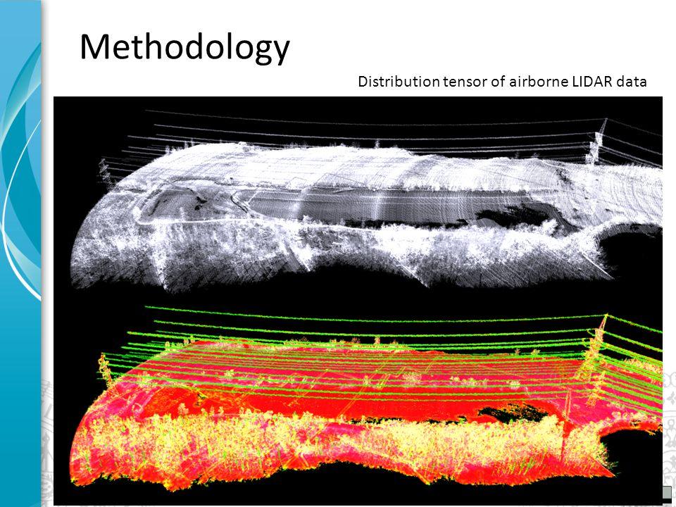 Distribution tensor of airborne LIDAR data Methodology