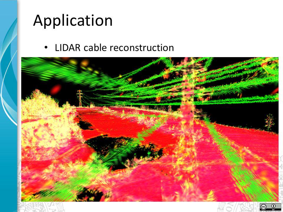 Application LIDAR cable reconstruction