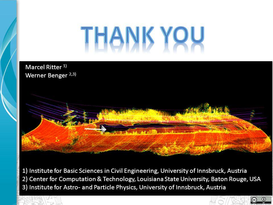 Marcel Ritter 1) Werner Benger 2,3) 1) Institute for Basic Sciences in Civil Engineering, University of Innsbruck, Austria 2) Center for Computation &