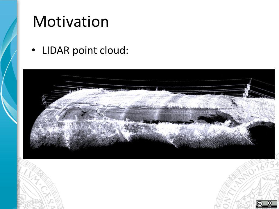 LIDAR point cloud: Motivation
