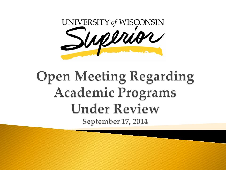  Outline the process and timeline for review  Discuss program faculty role in completing the review  Discuss ways to streamline curriculum  Provide examples and discuss strategies that can impact recruitment and retention  Discuss the department and program role and resources for recruiting