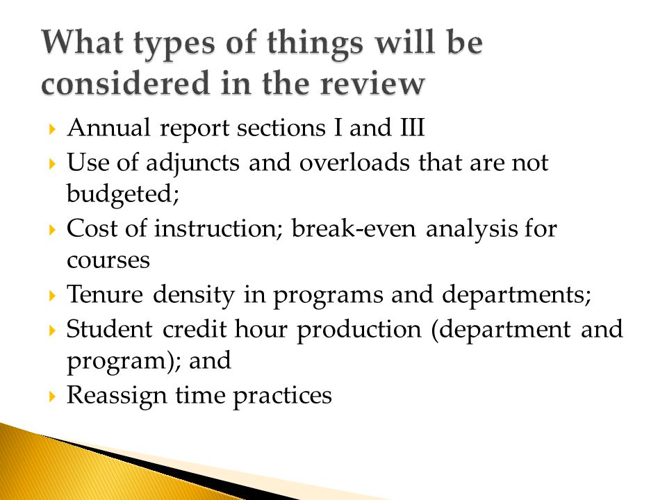  Review and streamline course rotation  Consider the impact of your low enrolling course on other courses ◦ (If general education, include impact on courses in the same knowledge category)  Close low enrolling courses and low enrolling majors and minors  Minimize electives in all programs  Review need for both online and on-campus sections of the same course  Minimize use of adjunct instructors and overloads