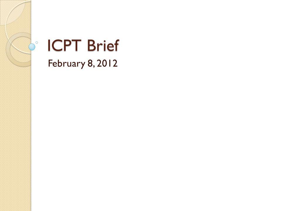 ICPT Brief February 8, 2012