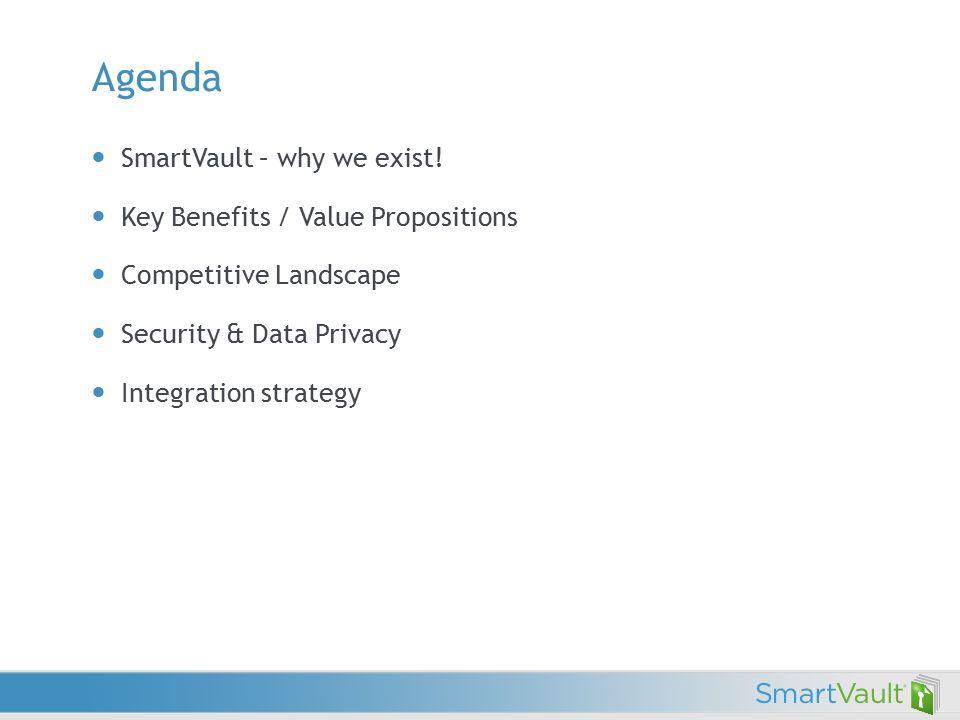 Agenda SmartVault – why we exist.