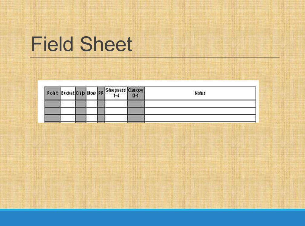 Field Sheet
