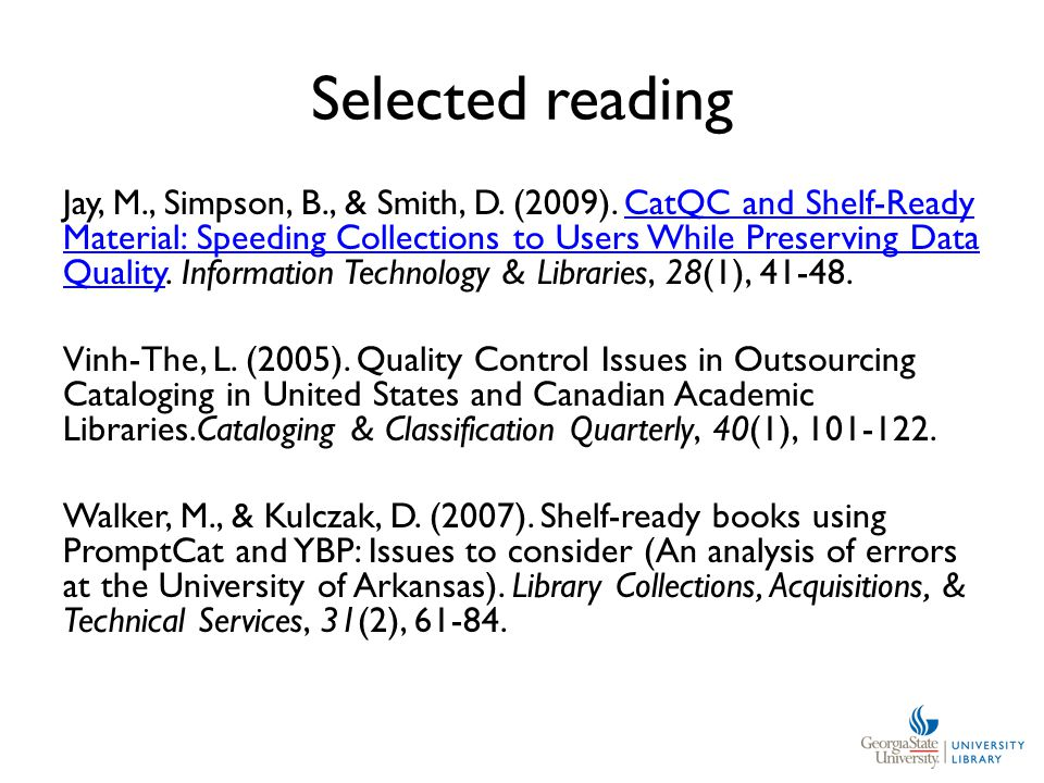 Selected reading Jay, M., Simpson, B., & Smith, D.