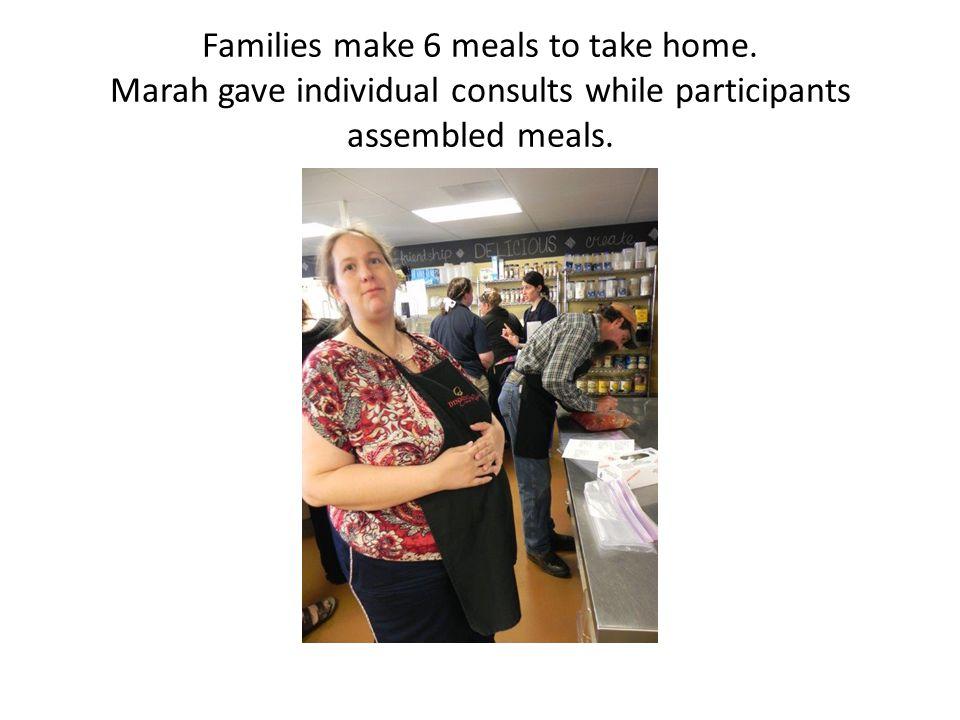 Families make 6 meals to take home.