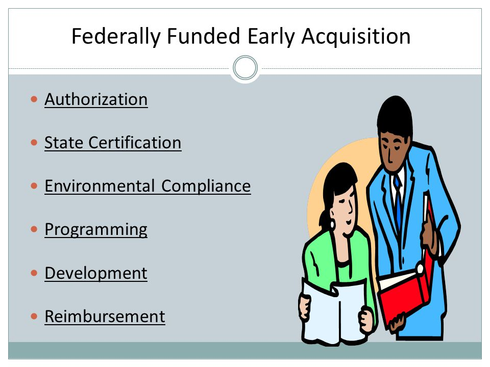 Authorization State Certification Environmental Compliance Programming Development Reimbursement