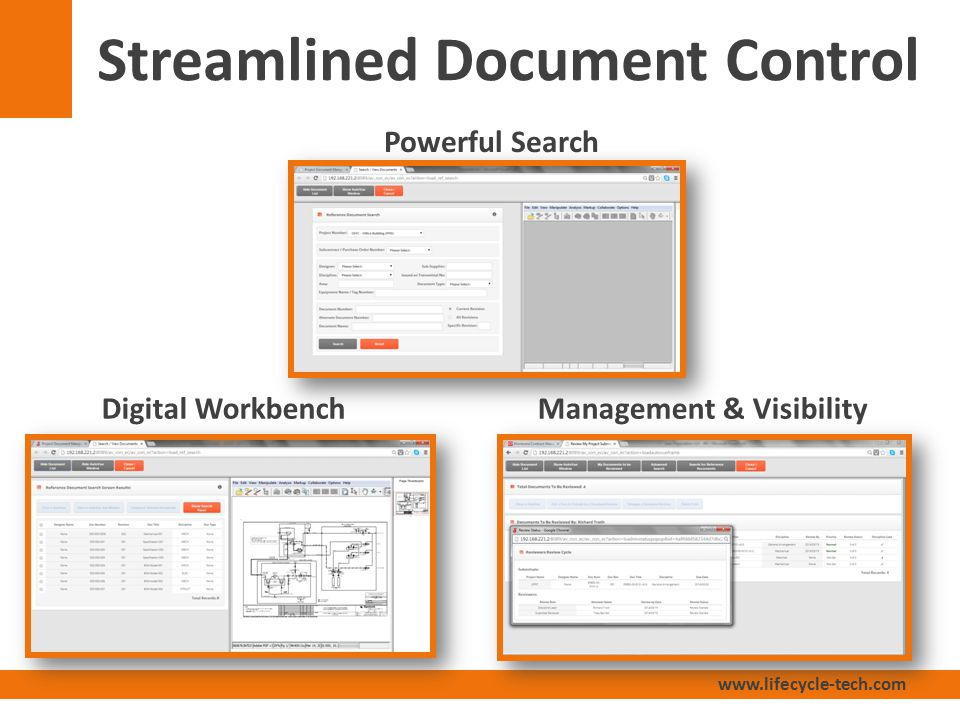 www.lifecycle-tech.com Streamlined Document Control Powerful Search Management & VisibilityDigital Workbench