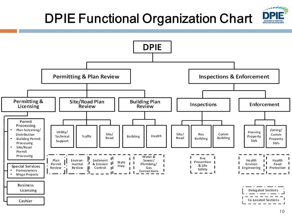 DPIE Functional Organization Chart 10