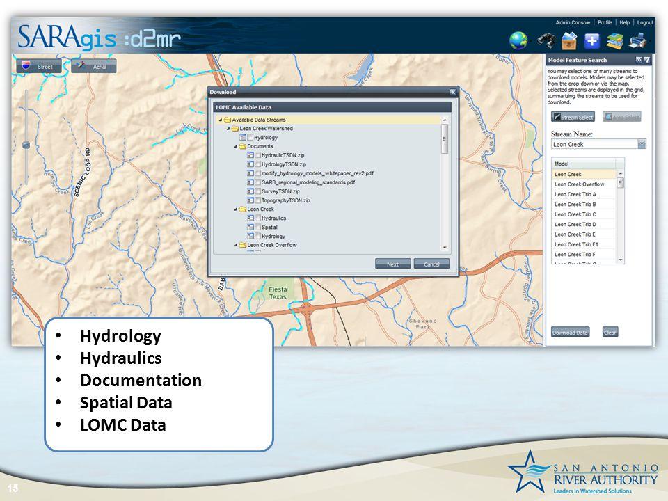 15 Hydrology Hydraulics Documentation Spatial Data LOMC Data