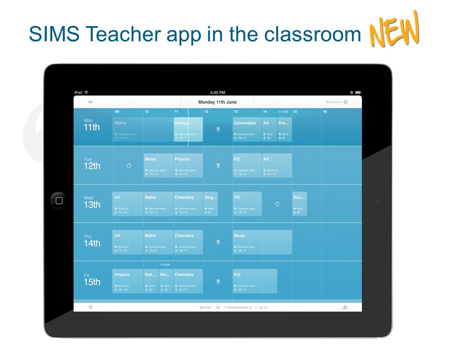 """ "" SIMS Teacher app in the classroom The ideal tool for teachers to manage their class and student information"