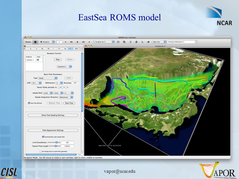 EastSea ROMS model vapor@ucar.edu