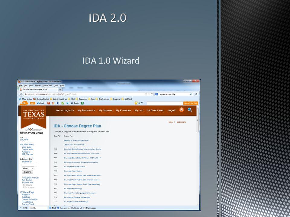 IDA 1.0 Wizard