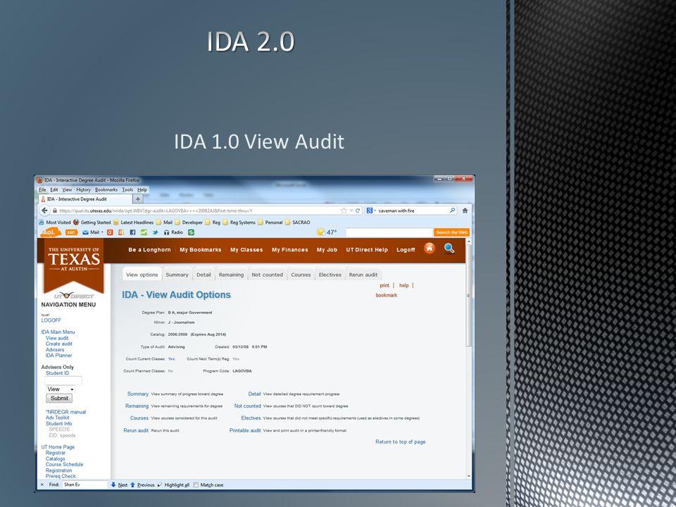 IDA 1.0 View Audit
