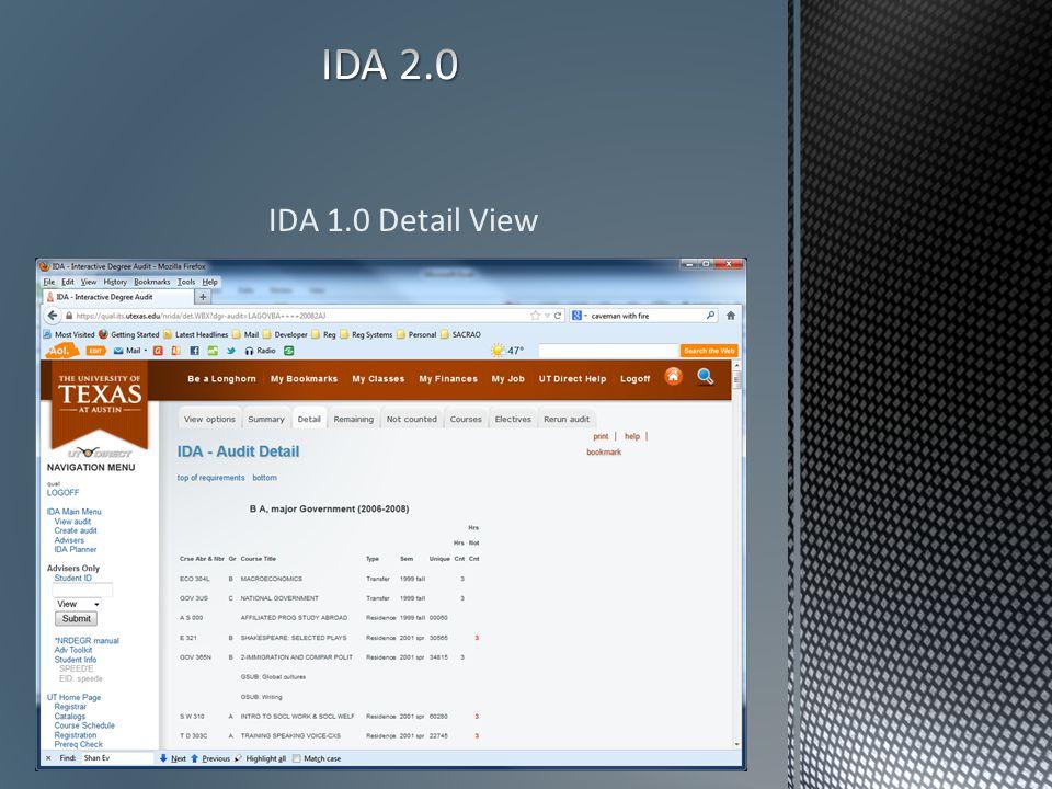 IDA 1.0 Detail View