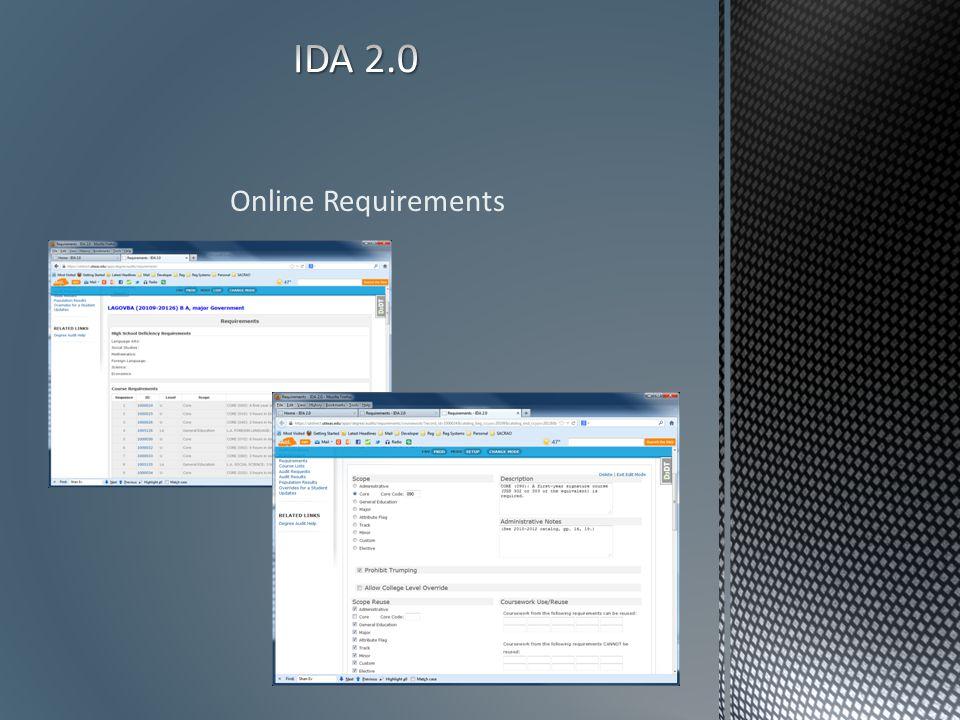 Online Requirements