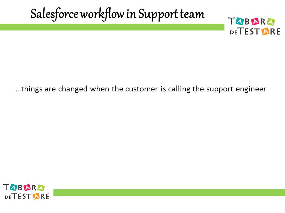 Salesforce workflow in Support team …things are changed when the customer is calling the support engineer