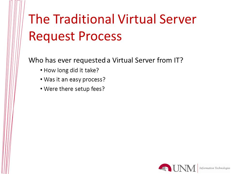 IT VM Provisioning Flow Chart Sample workflow for creating virtual file server