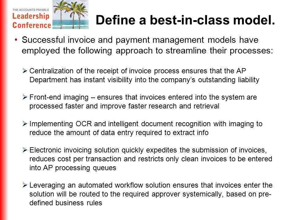 Define a best-in-class model.