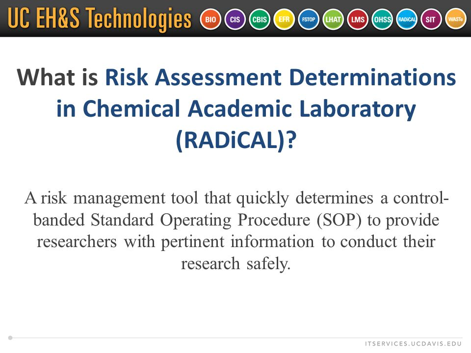 What is Risk Assessment Determinations in Chemical Academic Laboratory (RADiCAL).