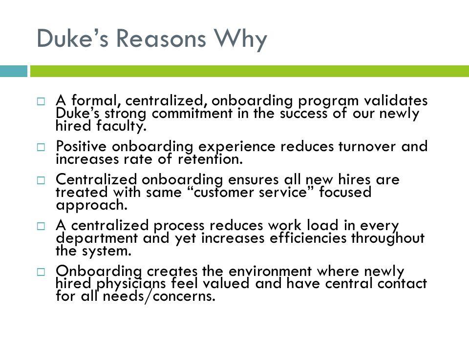Duke's Physician Integration Dept.