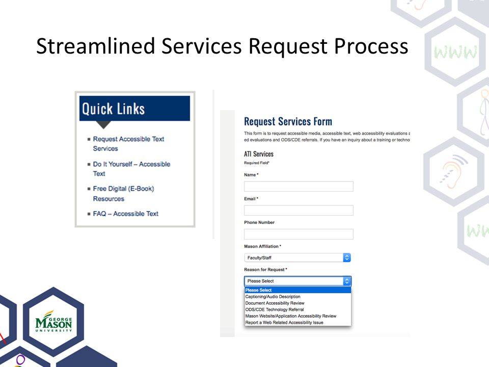 Streamlined Services Request Process