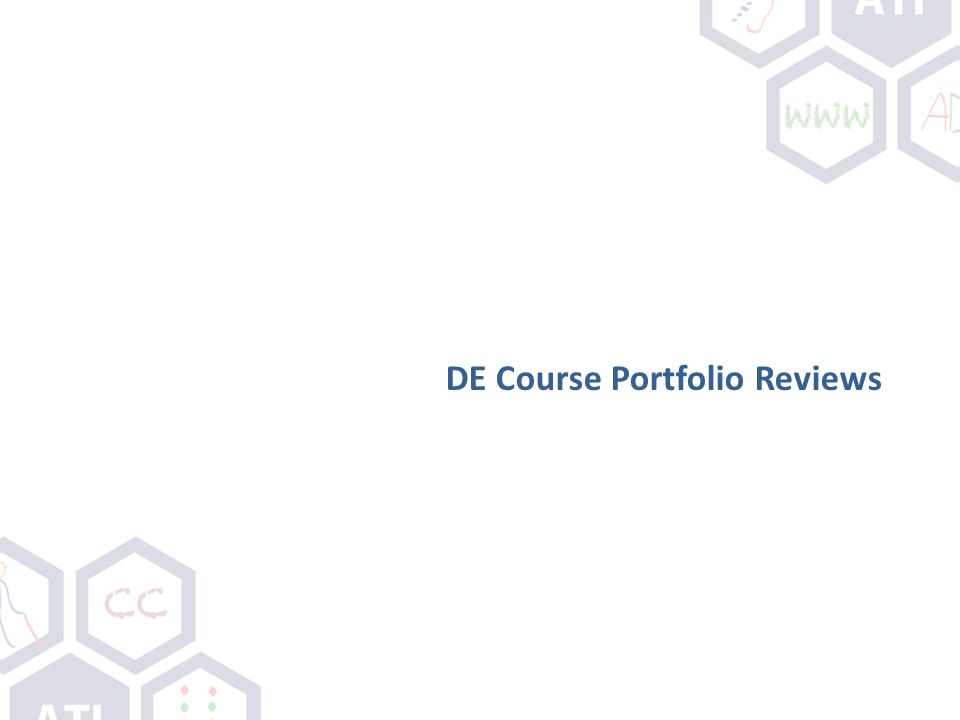 DE Course Portfolio Reviews