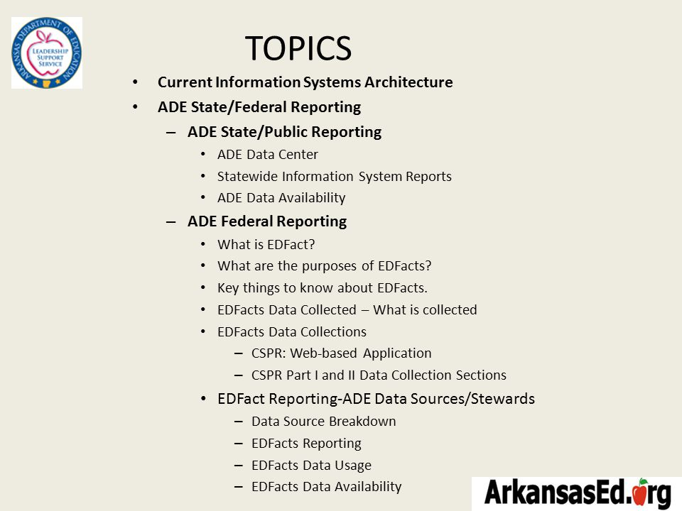 Key things to know about EDFacts.
