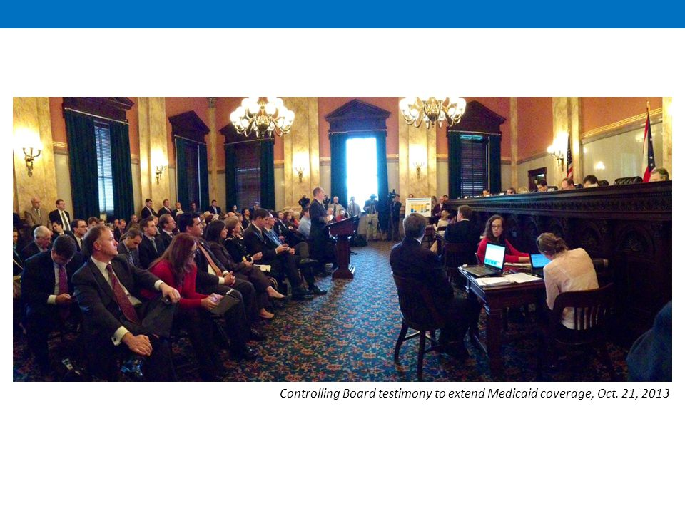 Controlling Board testimony to extend Medicaid coverage, Oct. 21, 2013