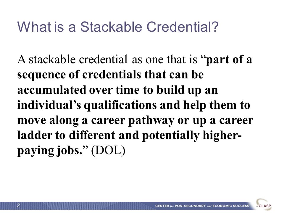 What is a Stackable Credential.