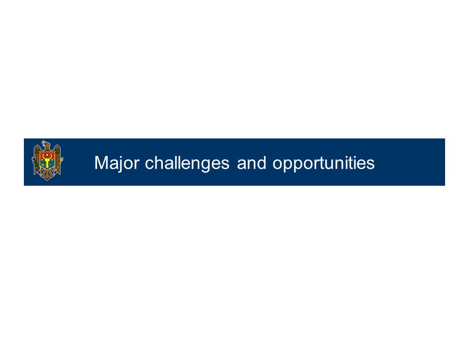 Major challenges and opportunities