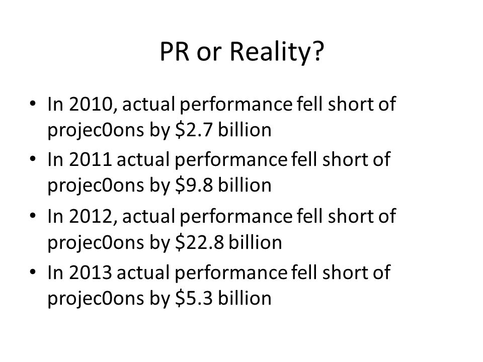 PR or Reality.