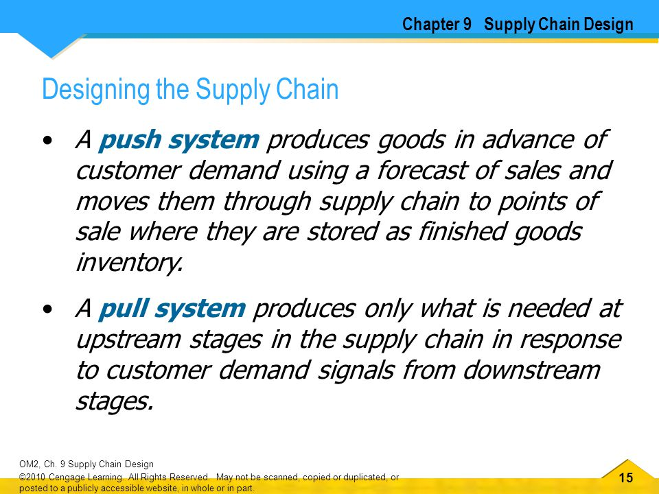 16 OM2, Ch.9 Supply Chain Design ©2010 Cengage Learning.