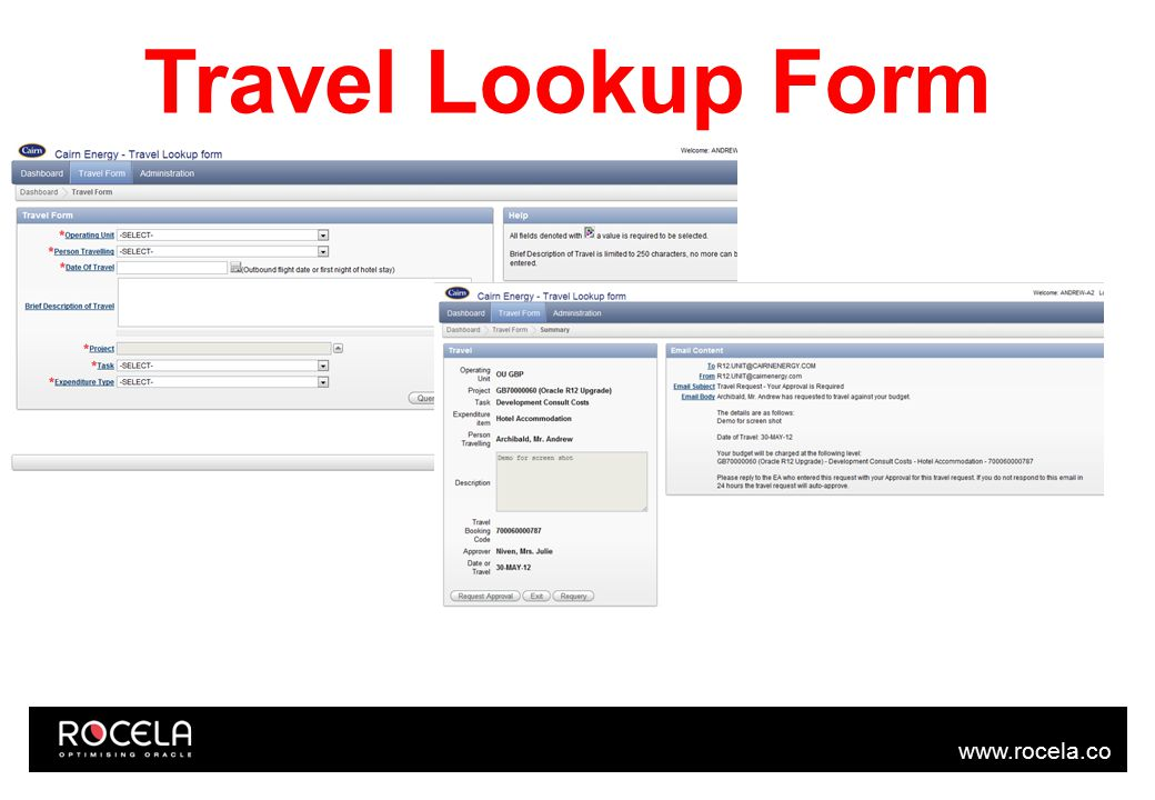 www.rocela.co m Travel Lookup Form