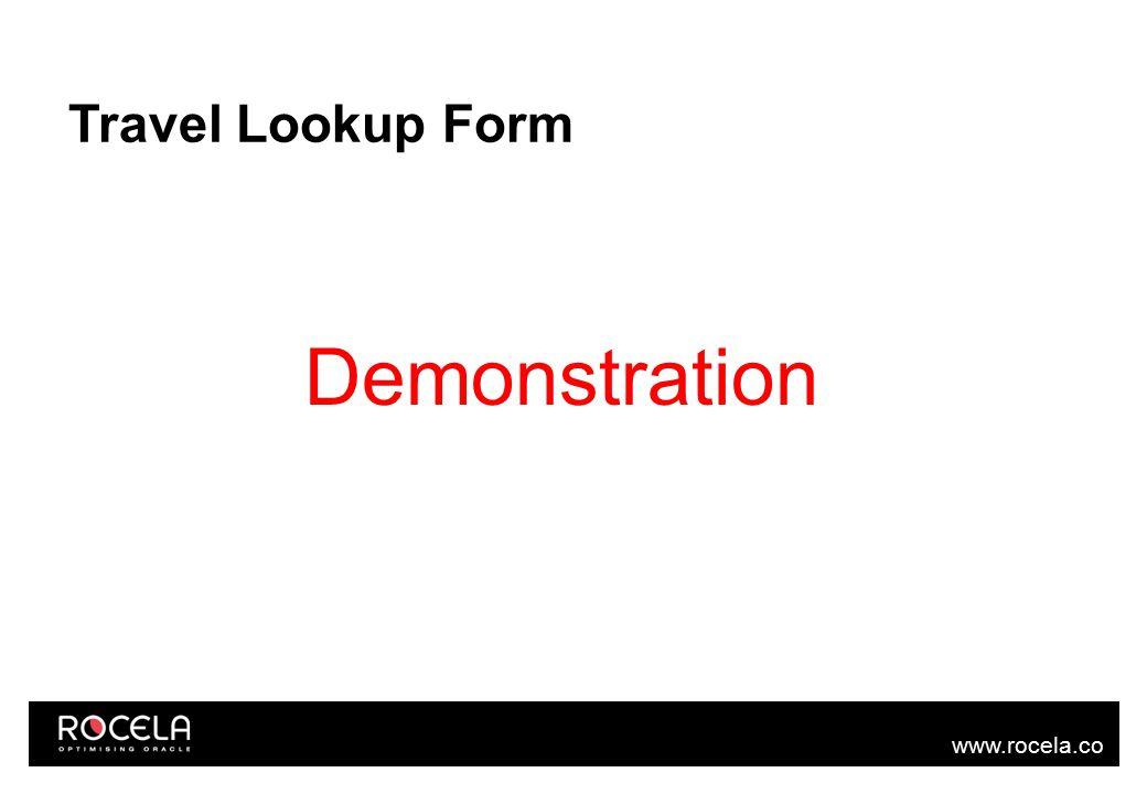 www.rocela.co m Travel Lookup Form Demonstration