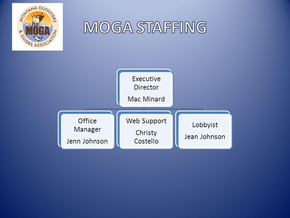 Executive Director Mac Minard Office Manager Jenn Johnson Web Support Christy Costello Lobbyist Jean Johnson