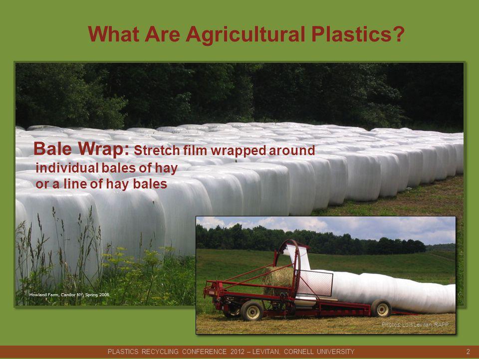 Decision points: Compact plastic on-farm (mobile baler).