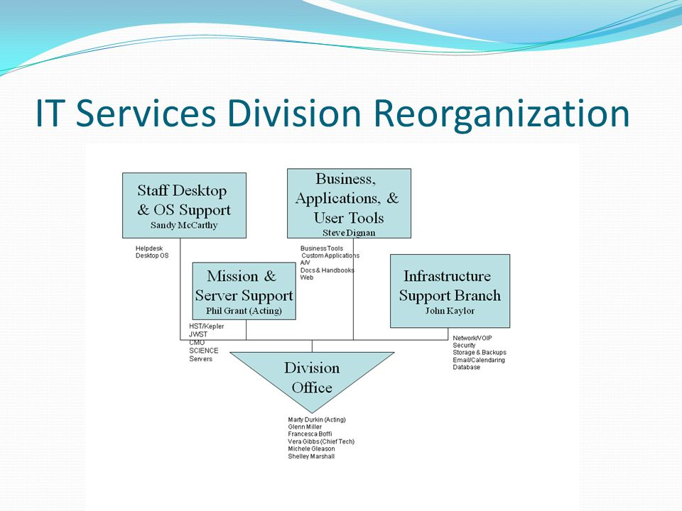 IT Services Division Reorganization