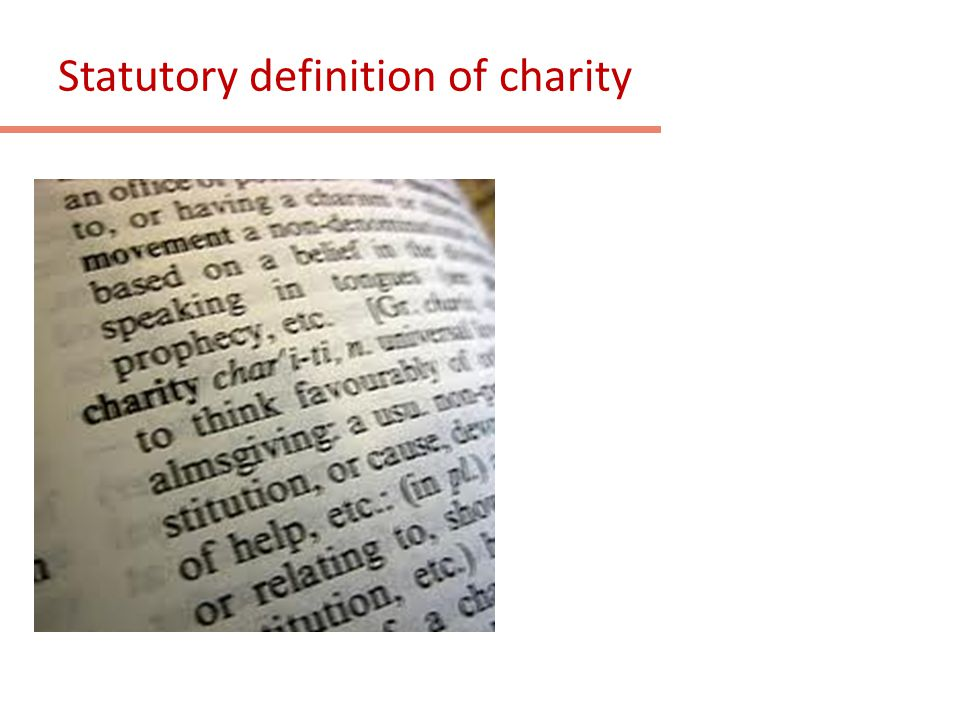 Statutory definition of charity