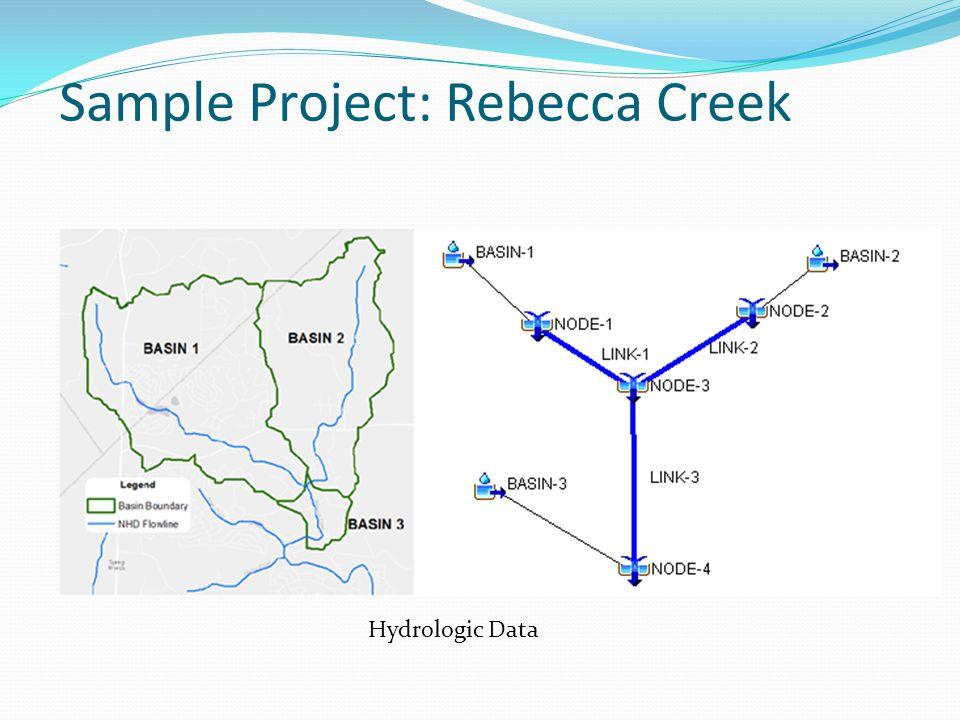 Sample Project: Rebecca Creek Hydrologic Data