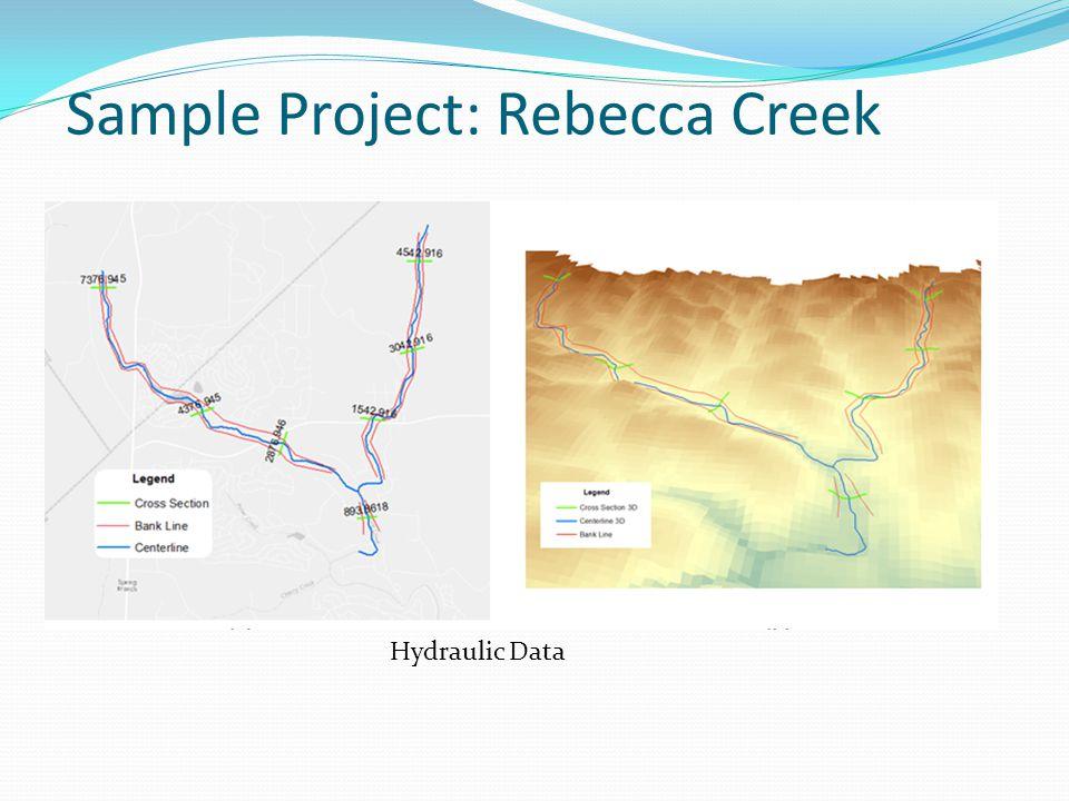 Sample Project: Rebecca Creek Hydraulic Data