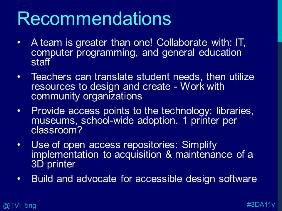 Recommendations A team is greater than one.