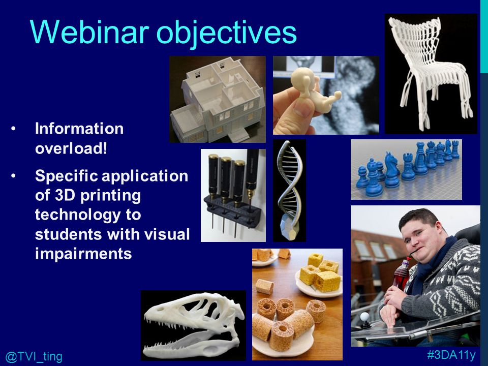 Webinar objectives Information overload.